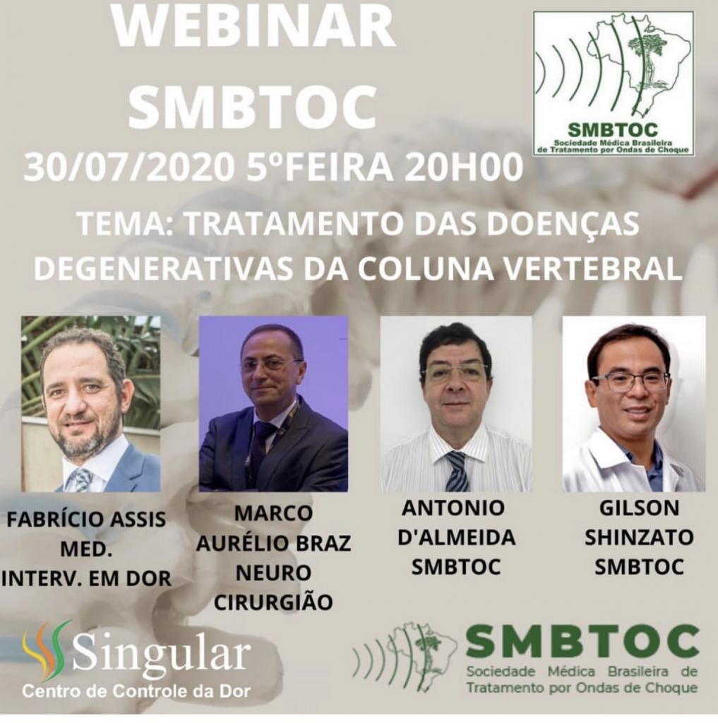 Webinar SMBTOC: Tratamento das Doenças Degenerativas da Coluna Vertebral