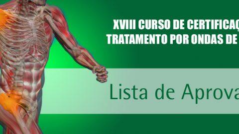 Lista de Aprovados na prova de XXV Curso de Certificação São Paulo – Fevereiro-2021